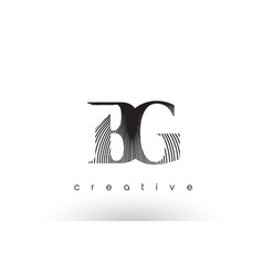 Bg logo design with multiple lines and black vector