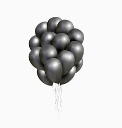 bunch of black glossy balloons vector image