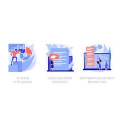 Business analysis concept metaphors vector