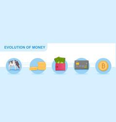 Concept money evolution vector