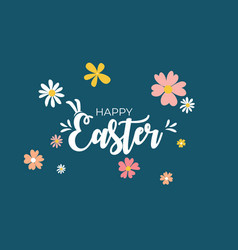 cute cartoon happy easter spring holiday vector image