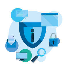 Cybersecurity data protection vector