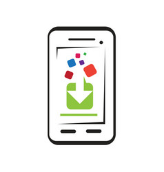 Download apps icon vector