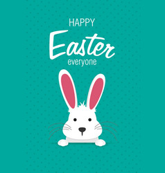 easter bunny in flat style vector image