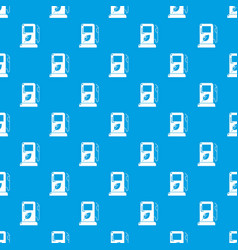 eco gas station pattern seamless blue vector image