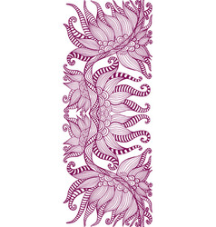 element ethnic tribal floral ornament dark vector image