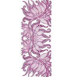Element ethnic tribal floral ornament dark vector