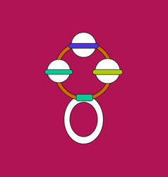 Flat icon design collection children beanbag vector