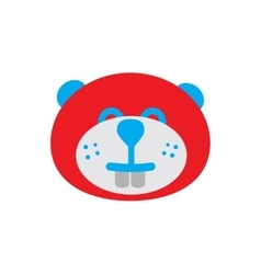 Flat icon on white background canadian beaver vector