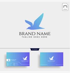 flying humming bird line art logo template icon vector image