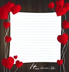 Frame card valentine vector