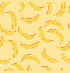 fruit seamless pattern bananas with double shadow vector image