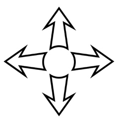 Full Screen Arrows Outline Icon vector