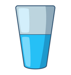 Glass of water icon cartoon style vector