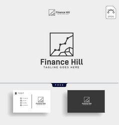 graphic statistic mountain business logo template vector image