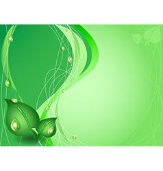 Green environment background vector