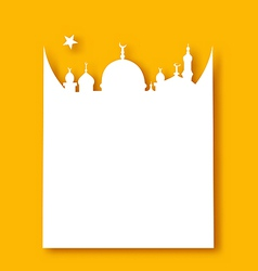 Greeting card template for Ramadan Kareem vector image