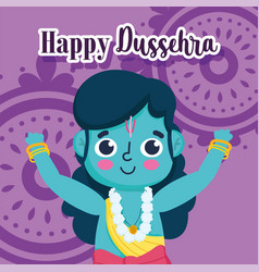 happy dussehra festival india lord rama vector image