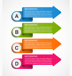 Infographic template for business presentations vector