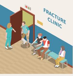 Injured people isometric vector