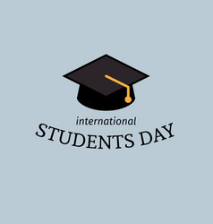 international students day poster vector image