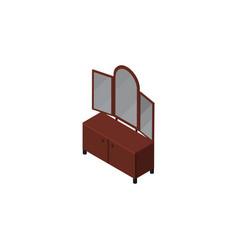 isolated sideboard isometric drawer vector image