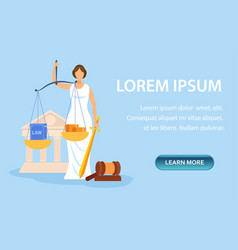 Law school admission requirements landing page vector