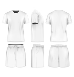 Men short sleeve t-shirt and sport shorts vector image