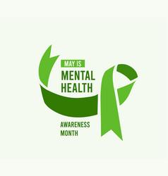mental health awareness month vector image