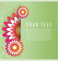 modern colorful banner with flowers vector image