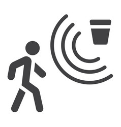 motion detector solid icon security and guard vector image
