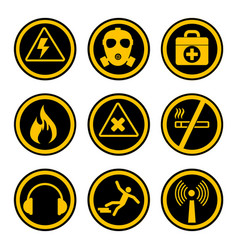 occupational safety and health icons vector image