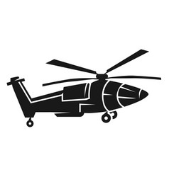 Pointy helicopter icon simple style vector