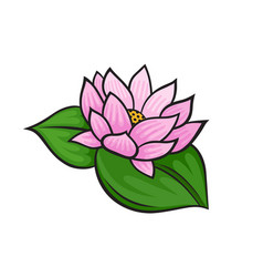 Pop art style lotus sticker vector