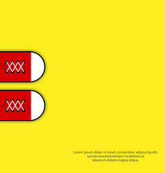 poster red sneakers shoes on yellow background vector image