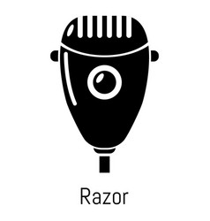 Razor icon simple black style vector