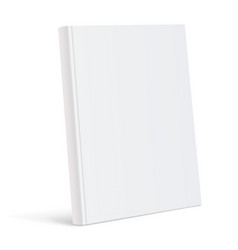 Realistic white blank book cover vector