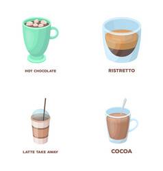 ristretto hot chocolate latte take-away vector image