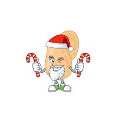 sarcina humble santa character having candies vector image