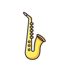 Saxophone rgb color icon vector