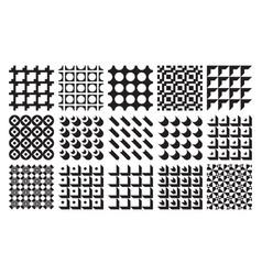 seamless geometric patterns set classic vector image