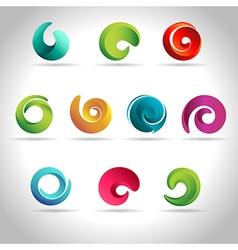 set abstract swirl vector image
