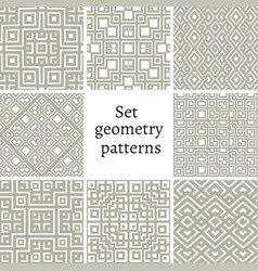 Set of ornamental patterns for backgrounds vector