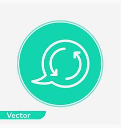 Speech bubble icon sign symbol vector