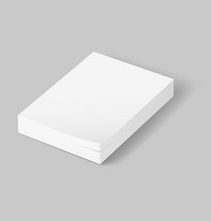 stack of blank papers on grey background vector image