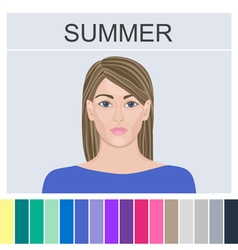 Stock summer type of female appearance vector