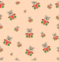 Teddy bear seamless pattern bear doll seamless vector