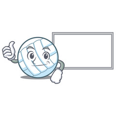 thumbs up with board volley ball character cartoon vector image