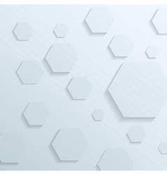 Transparent background with hexagon elements vector image