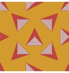 Triangle geometric seamless pattern 3 vector image